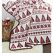 Catherine Lansfield Nordic Trees Throw - Red