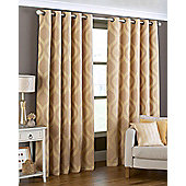 Arch Ready Made Eyelet Curtains Fully Lined -Gold, Ivory & Purple - Gold