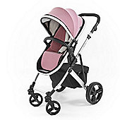 Tutti Bambini Riviera Plus Silver Pushchair - Dusty Pink / Cool Grey