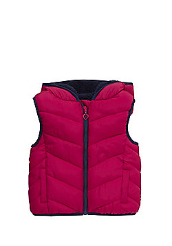 F&F Padded Hooded Gilet - Pink