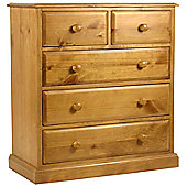 Kelburn Furniture Pine Large 5 Drawer Chest
