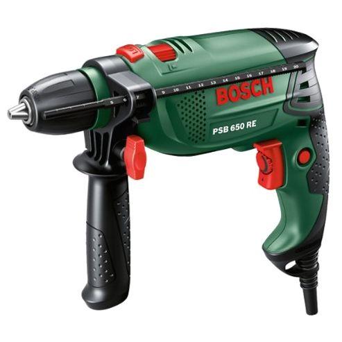 Bosch PSB 650 RE Electric Impact Percussion Drill - 13mm keyless chuck