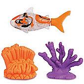 Robo Fish With Coral - Orange Shark