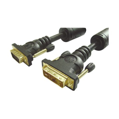 Nikkai DVI-A Male To VGA Male 15Pin PC Monitor Cable 3M