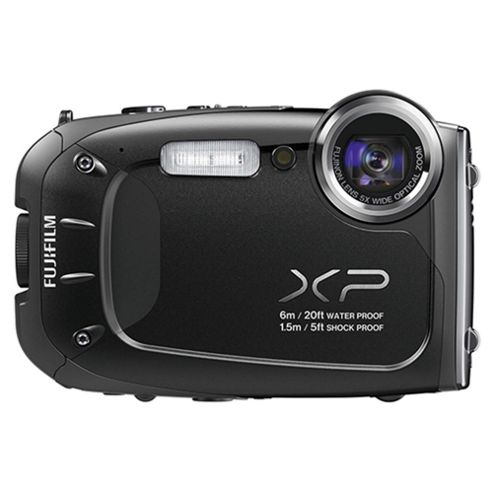 Fujifilm XP60 Digital Camera, Black, 16MP, 5x Optical Zoom, 2.7