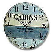 Hill Interiors Cabins for Rent Beach Wall Clock