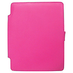 Tesco Finest Leather Case, Stand for new iPad & iPad2 - Pink
