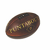 Webb Ellis Official Puntabout Leather Rugby Ball Size 5