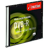 Imation Slimline 16x Inkjet Printable DVD-R Disc, Pack of 10
