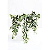 Artificial 30cm Frosted Variegated Ivy Plug Plant