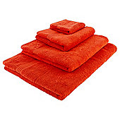 Tesco Hygro 100% Cotton Hand Towel, Orange
