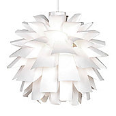 Artichoke Style Ceiling Pendant Light Shade in White