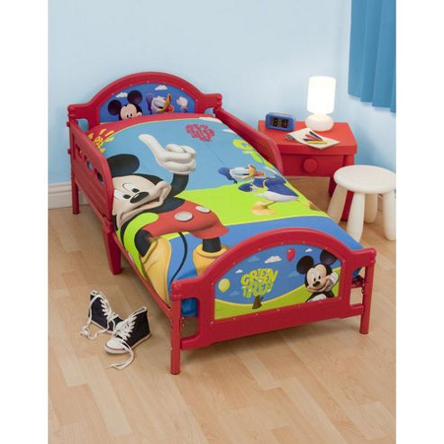 Character World Disney Mickey Mouse Puzzled Toddler Bed