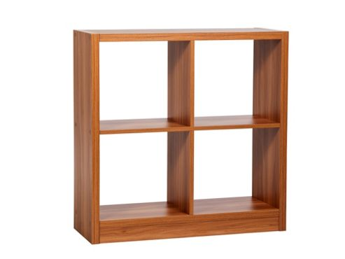 Home Essence Madison 4 Shelf Shelving Unit - Walnut