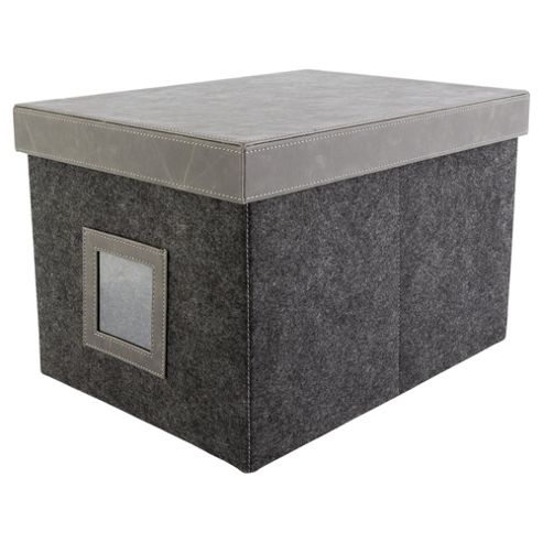 buy felt storage box large with lid from our boxes range. Black Bedroom Furniture Sets. Home Design Ideas