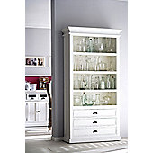 Whitehaven Painted Bookcase With 3 Drawers