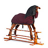 Rocking Horse Star with Burgundy Rug and Nose Bag
