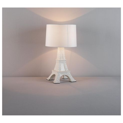 Tesco Lighting Tour Eiffel Ceramic Table Lamp White