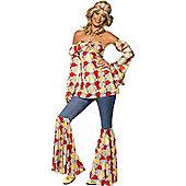 Hippy 1970's Vintage - Adult Costume Size: 16-18