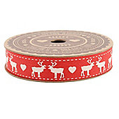 Red Stag Christmas Gift Ribbon