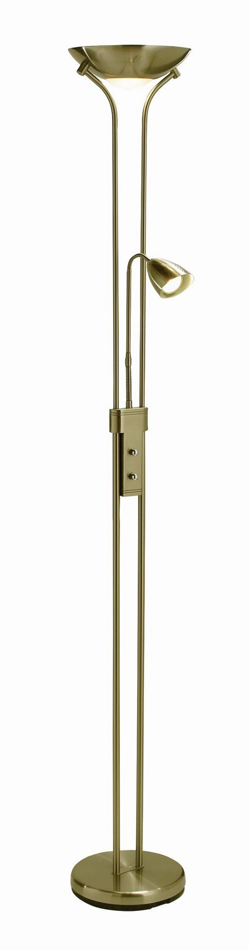 Mark Slojd Detroit 2 Light Floor Lamp - Brass