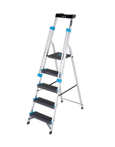 Professional 5 Tread Platform Step Ladder (Handrail & Tool tray)