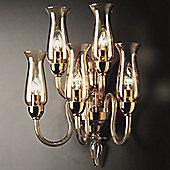 De Majo 2612 Five Light Wall Lamp - Chrome - Amber
