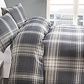 York Single Duvet Set - Grey