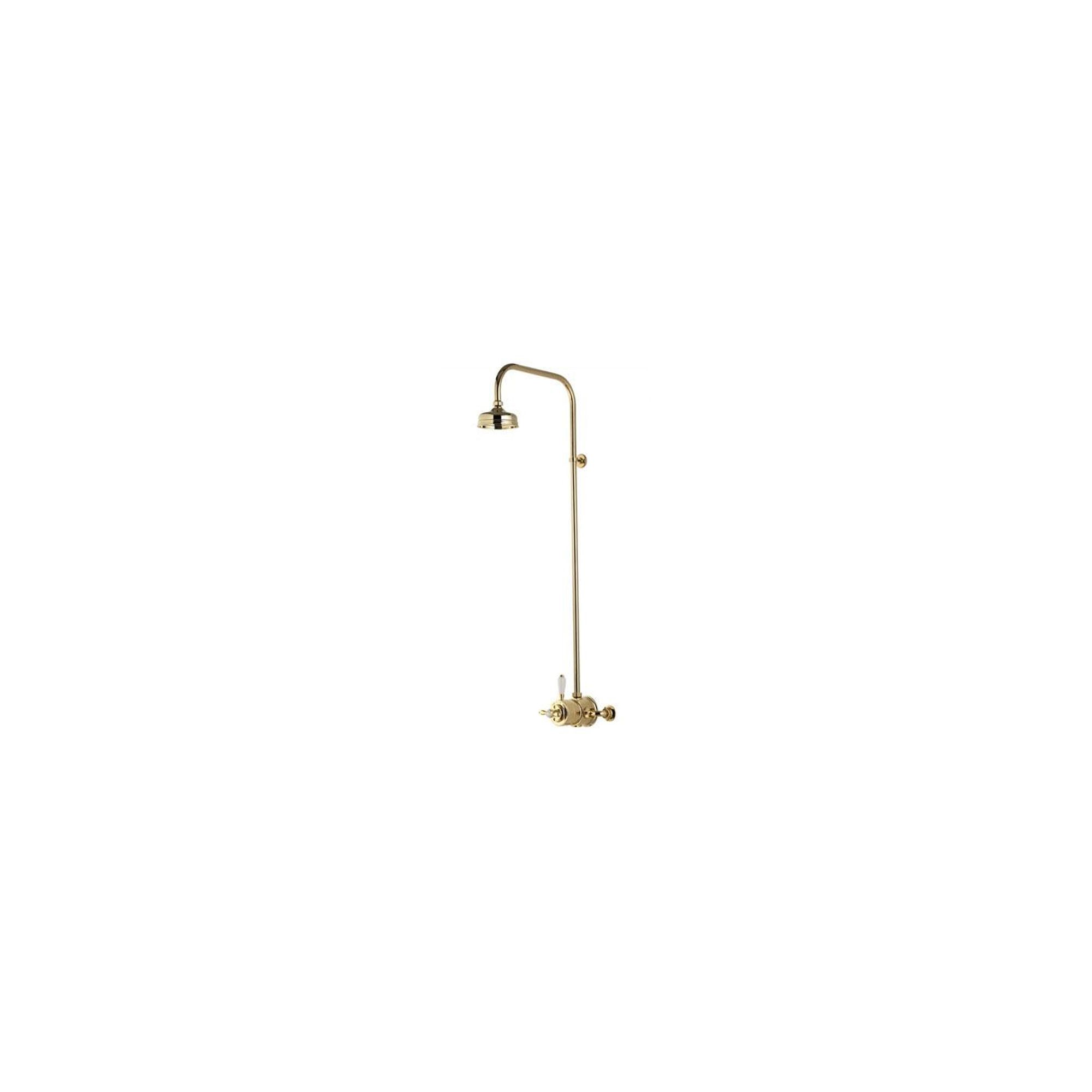 Aqualisa Aquatique Thermo Exposed Valve with 5 Inch Fixed Head Gold at Tesco Direct