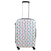Tesco 4-Wheel Hard Shell Suitcase, Spotty Medium