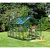 Halls 10x6 Popular Greenframe Greenhouse + Base - Toughened Glass