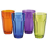 Home Bright American Soda Glass sprayed 4 Set