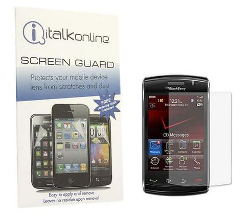 iTALKonline S-Protect LCD Screen Protector and Micro Fibre Cleaning Cloth - For BlackBerry 9520 Storm 2