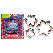 Cooksmart Stainless Steel Snowflake Cookie Cutters, Set of 3