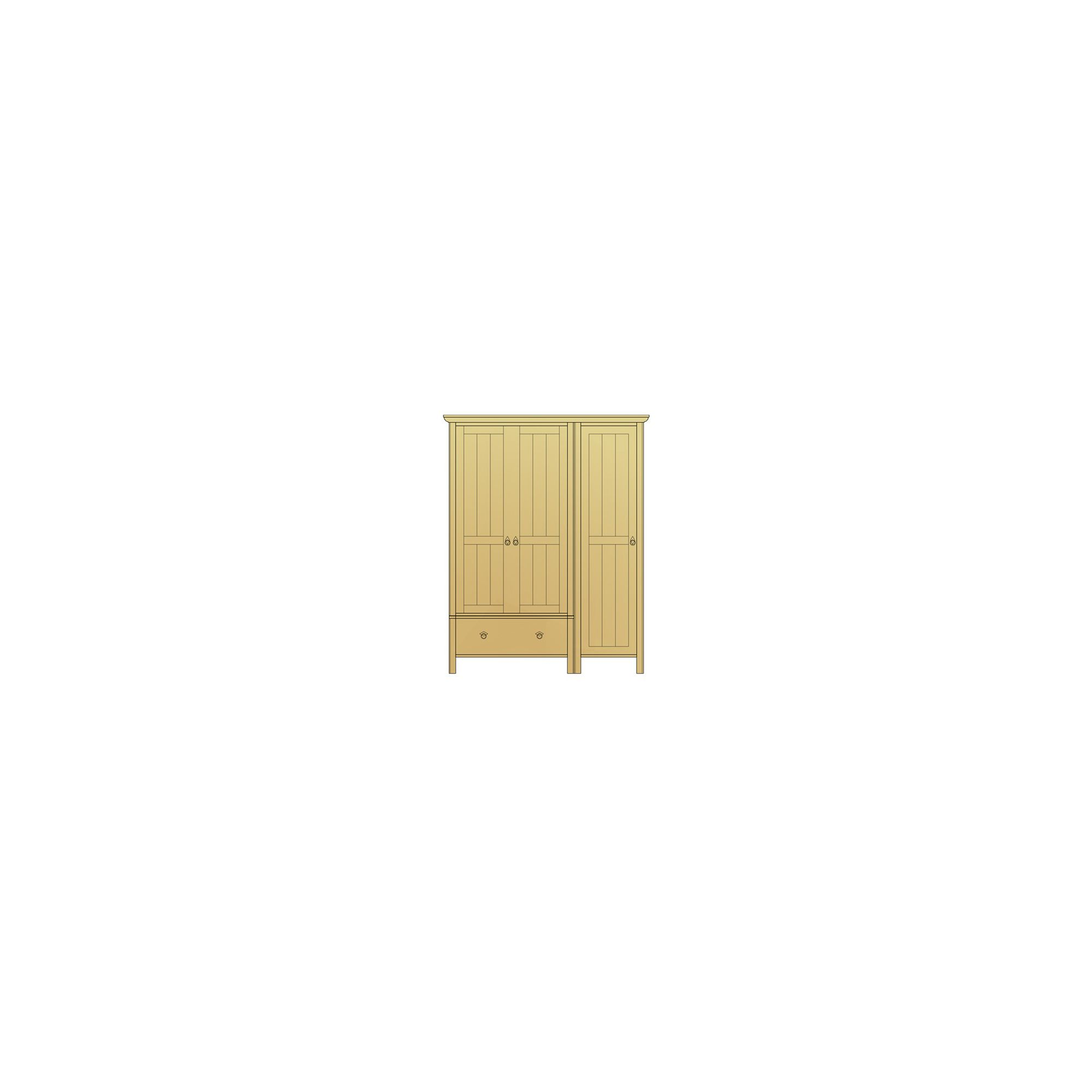 Sherry Designs Simply Bedroom 3 Door 1 Drawer Combination Oak Wardrobe at Tescos Direct
