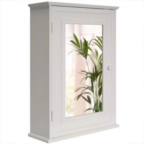 Buy tallula white mirror bathroom wall storage cabinet for Bathroom cabinets tesco