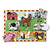 Melissa Doug Farm Chunky Puzzle