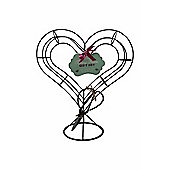 Heart Shape Cast Iron Topiary Set with Quality Topiary Shears