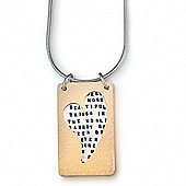 Kathy Bransfield Contemporary Heart Necklace - Helen Keller