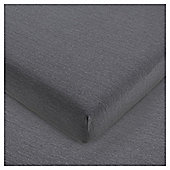House of cotton Jersey Fitted Sheet Shadow Grey, Single