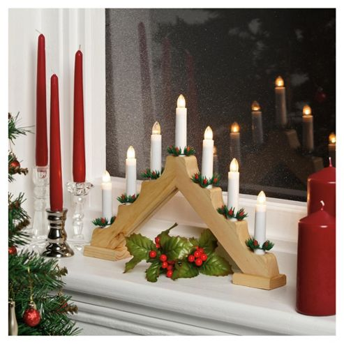 Buy tesco wooden candle arch from our all christmas range for Arch candle christmas decoration