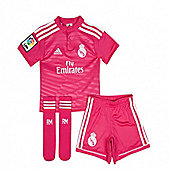2014-15 Real Madrid Adidas Away Mini Kit - Pink