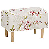 Tub Footstool Fabric Pattern / Floral Pink