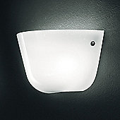 Leucos Ayers Chromed Wall Light - Fluorescent G24Q3 / Glossy White