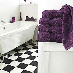 Supreme Egyptian Cotton Towel Purple Face Cloth