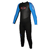 TWF Full wetsuit 2.5mm Black/Blue Age 10/11