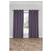 Faux Silk Lined Eyelet Curtains - Heather - 66 X 72