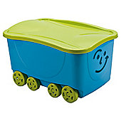Smiley Face Lidded Trunk Blue/Lime