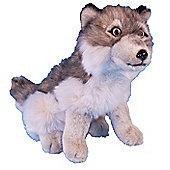 Dowman 30cm Sitting Wolf Plush Soft Toy