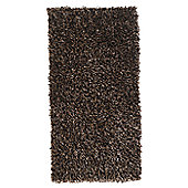 Home Essence Sorena Fly Champagne / Chocolate Shag Rug - Runner 140cm x 70cm (4 ft 7 in x 2 ft 3.5 in)